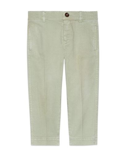 Khaki Twill Pants  Size 4-12