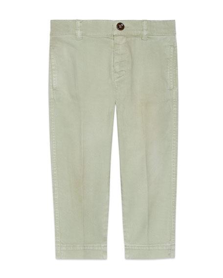 Gucci Khaki Twill Pants, Size 4-12