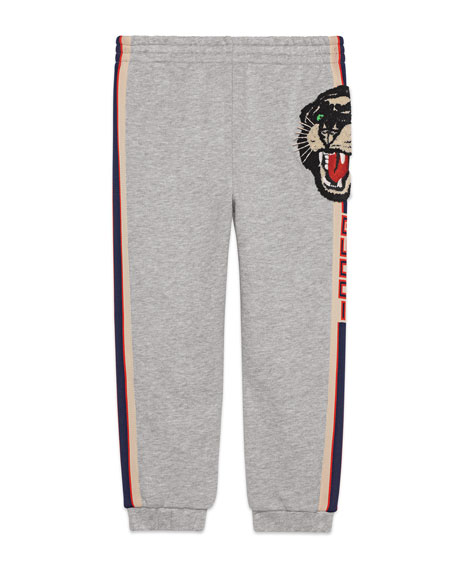 Gucci Jogging Pants w/ Pocket Embroidery, Size 4-12