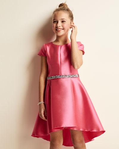 The Jennifer Matte Sateen Swing Dress, Size 7-16