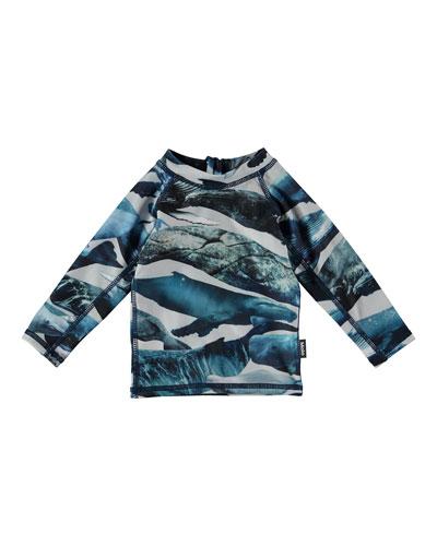 Nemo Whale-Print Long-Sleeve Rash Guard, Size 1-24 Months
