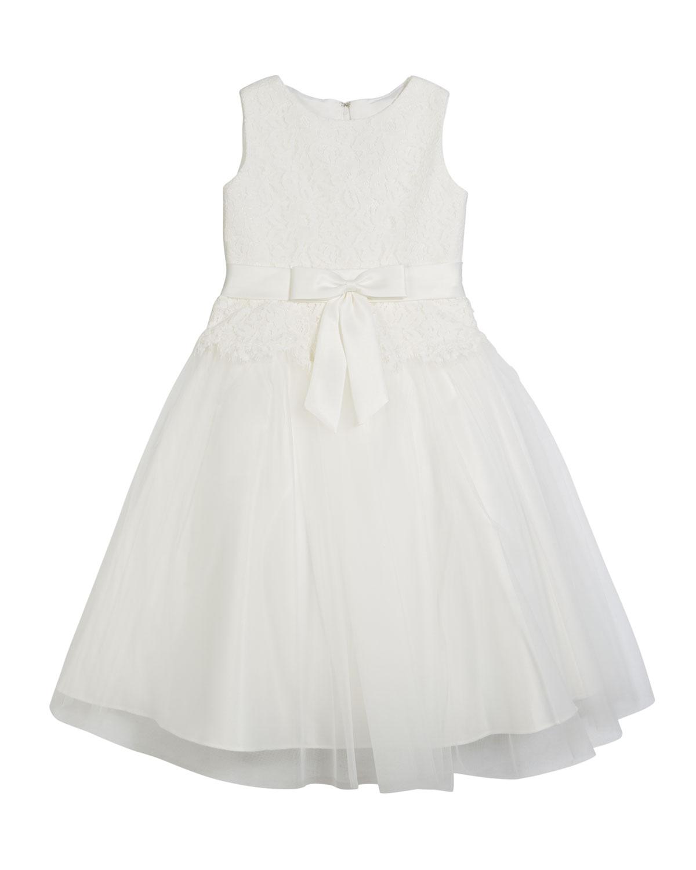 ced1a4a27b4 Joan Calabrese Lace Bodice   Tulle Skirt Tea-Length Dress