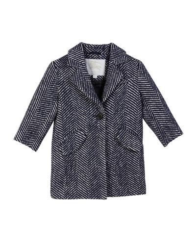 Camelia Herringbone Coat, Size 3-14