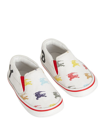 Erwin Equestrian Knit Print Canvas Sneakers  Baby/Toddler