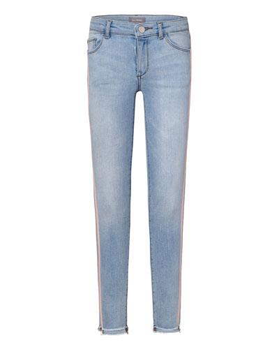 Chloe G Skinny Stepped Hem Jeans, Size 7-16