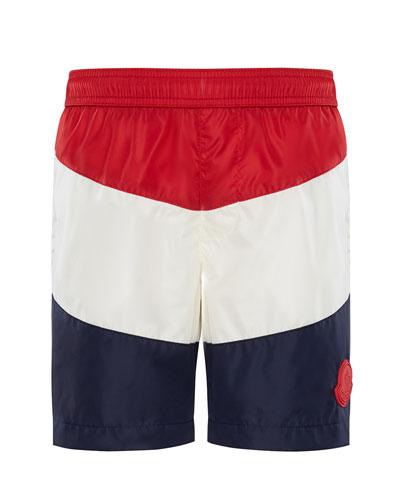 Colorblock Swim Trunks, Size 4-6