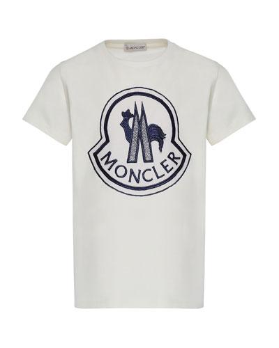 Short-Sleeve Logo Patch T-Shirt, Size 8-14