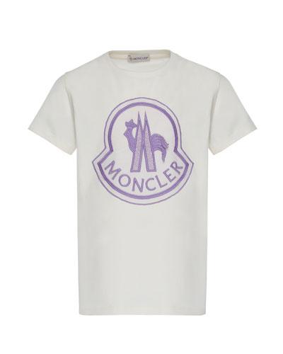 Short-Sleeve Logo Patch T-Shirt, Size 4-6