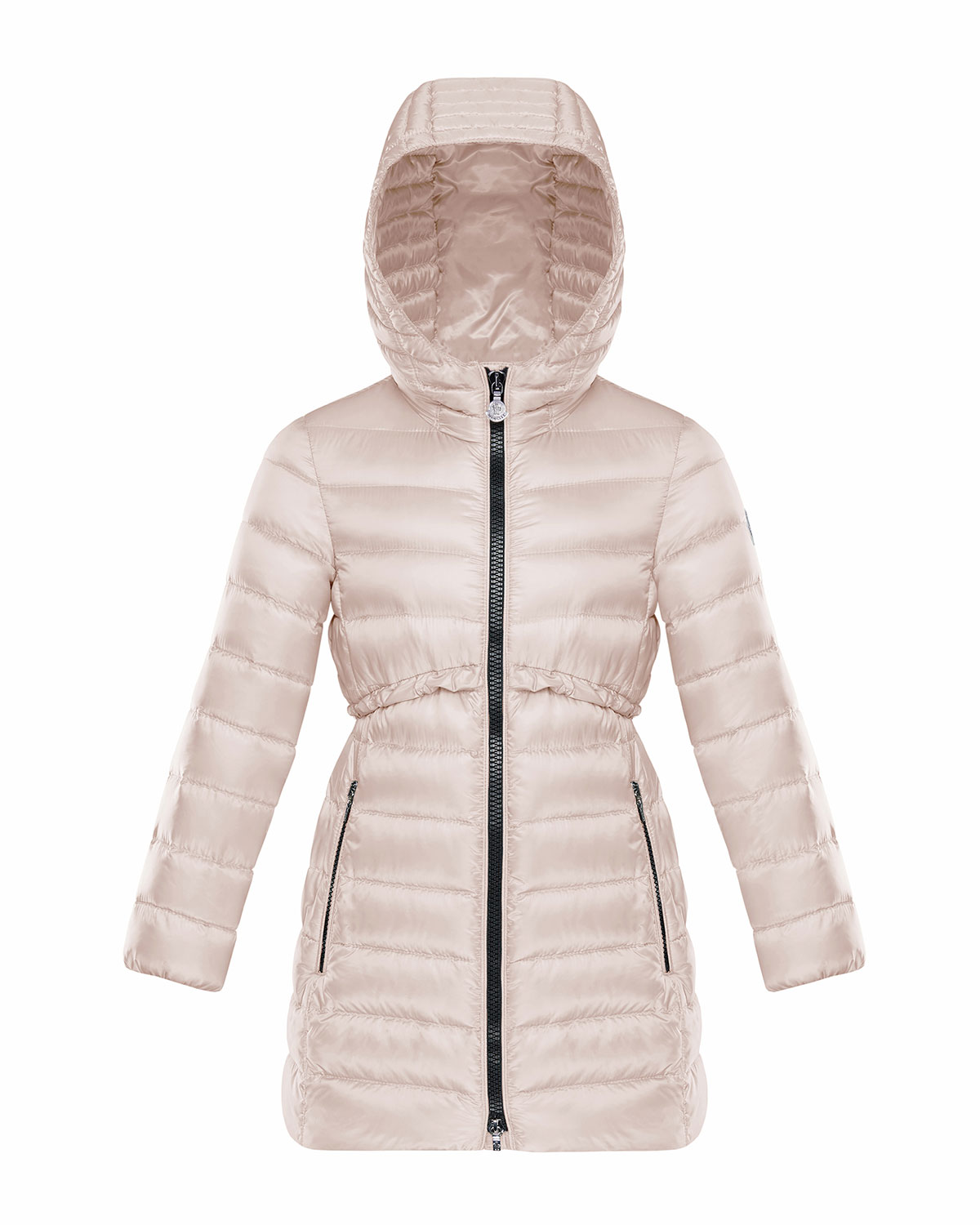 7308bd2d84c3 Moncler Quilted Ruffle-Trim Hooded Jacket