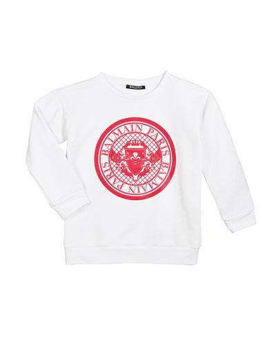 Cotton Logo Sweatshirt  Size 4-10