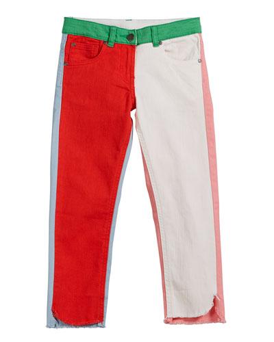 Logo-Sides Denim Pants  Size 6-14