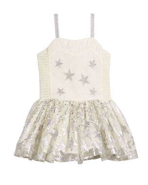 a8f9fa3a02bfa Stella McCartney Kids Metallic Star Dress w  Detachable Wings