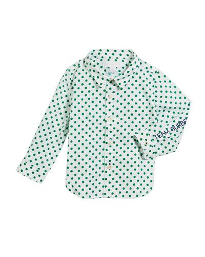 Jayce Polka-Dot Collared Shirt  Size 12M-2