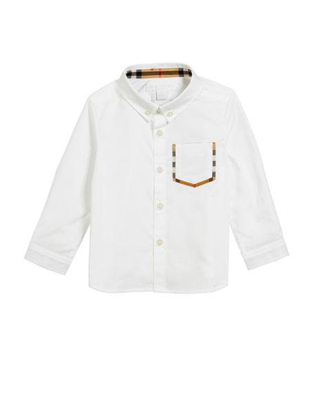 Burberry Harry Check-Pocket Sport Shirt, Size 6M-2