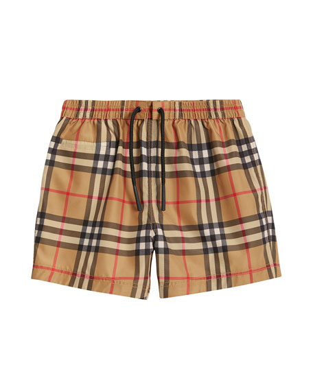 Burberry Galvin Check Swim Shorts, Size 6M-2