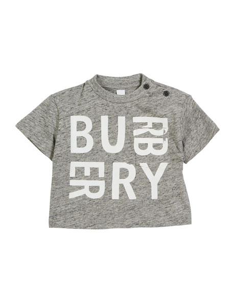 Burberry Furgus Heathered Logo Pocket Tee, Size 6M-2