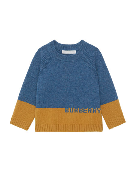 Burberry Alister Colorblock Cashmere Sweater, Size 12M-2