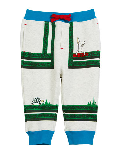Maze-Print Cotton Jogger Pants  Size 12M-2