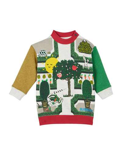 Garden Maze Colorblock Sweatshirt Dress  Size 12M-2