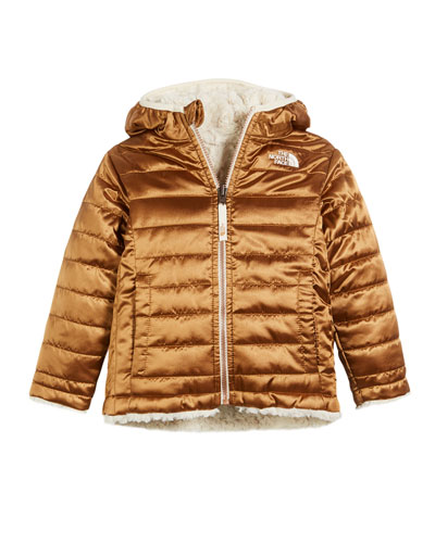 Reversible Mossbud Swirl Hooded Jacket  Size 2-4T