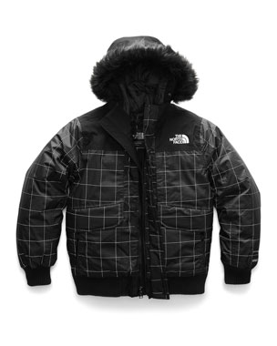 2f015e8d55 The North Face Gotham Down Hooded Grid Jacket w  Faux-Fur Trim