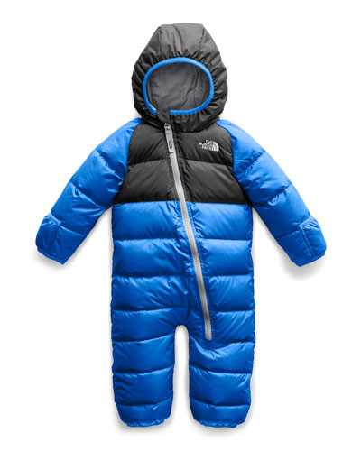 Lil' Snuggler Two-Tone Down Hooded Snowsuit, Size 18-24 Months
