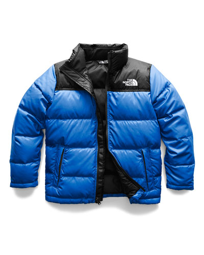 Nuptse Two-Tone Quilted Down Jacket, Size XXS-L
