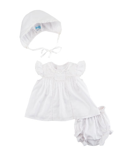 Lace-Trim 3-Piece Layette Set, Size Newborn-9 Months