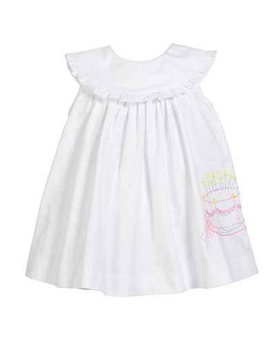 Birthday Cake Embroidered Dress  Size 12-24 Months