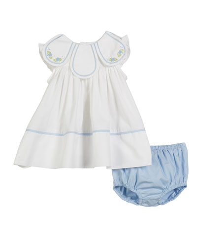 Petal Float Dress w/ Matching Bloomers, Size 3-24 Months