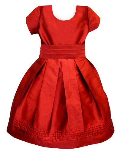 Pintucked Taffeta Dress  Size 2-3