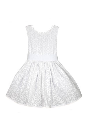Isabel Garreton Floral Embroidered V-Back Loops Dress, Size 2-6