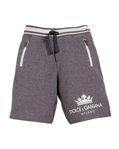 Crown D&G Logo Drawstring Shorts, Size 4-6