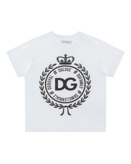 Dolce & Gabbana Logo Crest Short-Sleeve T-Shirt, Size