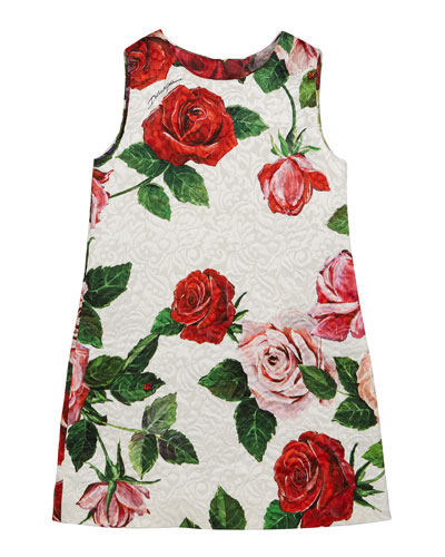 Floral Mixed Brocade Dress  Size 8-12