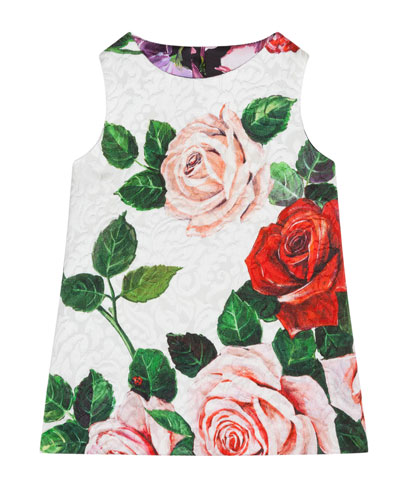 Floral Jacquard A-Line Dress w/ Bloomers  Size 6-30 Months