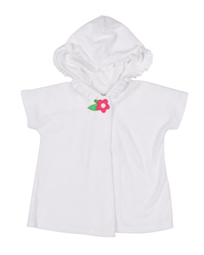 Knitted Terry Hooded Coverup, Size 6-24 Months