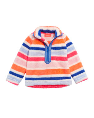 Joules Merridie Multi-Stripe Half Zip Fleece Pullover e2579cf70cbef