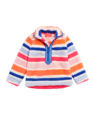 Merridie Multi-Stripe Half Zip Fleece Pullover  Size 2-6