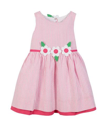 Striped Seersucker Sleeveless Dress  Size 2-6X