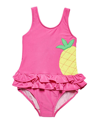 One-Piece Pineapple Swimsuit, Size 2-6X