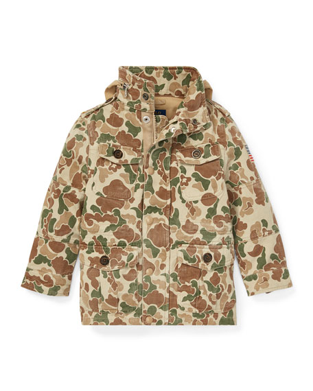 Ralph Lauren Childrenswear Battle Camo-Print Jacket, Size 5-7