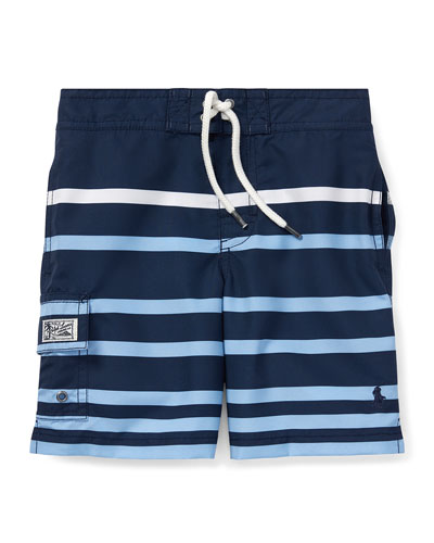 Kailua Striped Swim Trunks, Size 5-7
