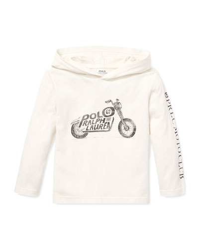 Logo Motorcycle Hooded Top  5-7