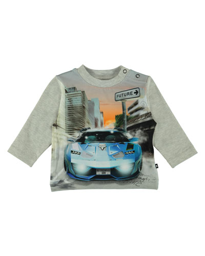 Enovan Long-Sleeve Car Graphic Tee, Size 6-24 Months