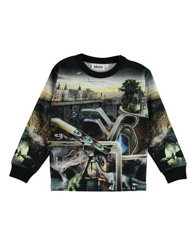 Mono Above & Below Ground Graphic Sweatshirt, Size 4-12