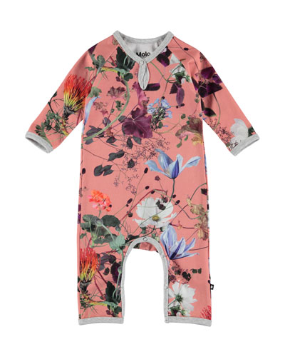 Fiona Floral Coverall, Size Newborn-12 Months