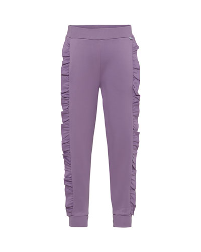 Aline Ruffle-Trim Sweatpants, Size 4-12