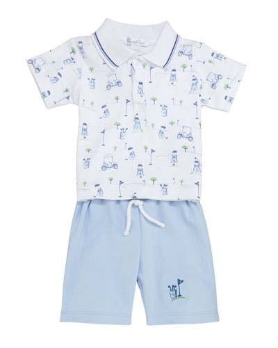 First Tee Polo & Bermuda Set  Size 6-24 Months