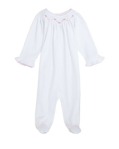 CLB Summer Bishop Pima Footie Playsuit, Size Newborn-9 Months